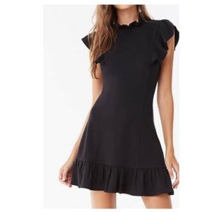 Flounce mini bodycon dress
